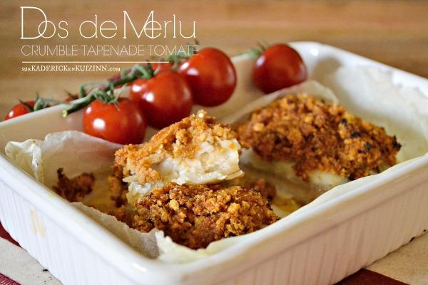Recette four – Dos de merlu en crumble de tapenade tomate