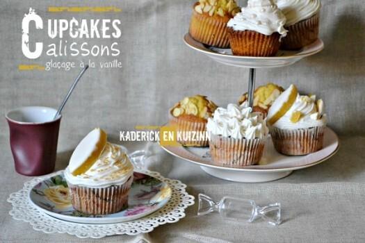 Recette cupcakes aux calissons et glaçage vanille – Kaderick