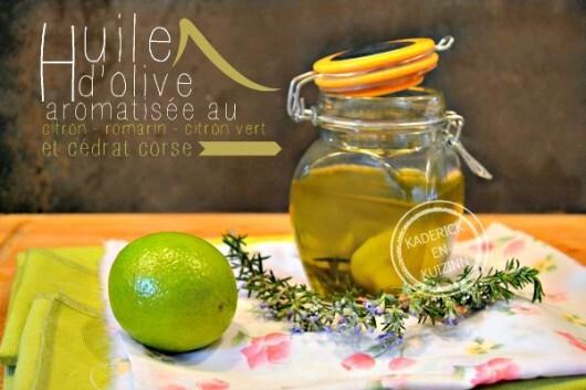 Huile aromatisee aux agrumes pour une marinade à la plancha
