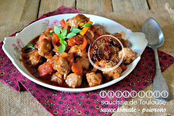 Boulette saucisse de Toulouse sauce tomate à l'Omnicuiseur