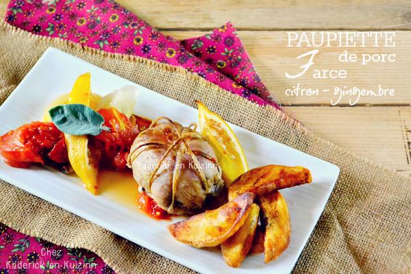 Paupiettes porc farce citron vert et noix de coco à l'Omnicuiseur