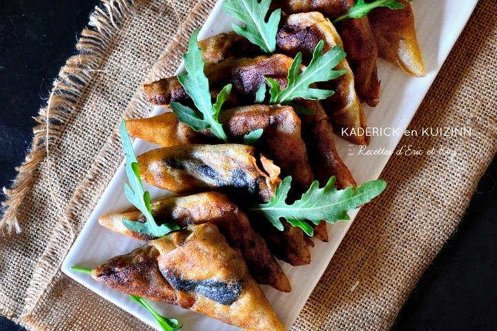 Recette samoussas au poulet et farce au foie gras