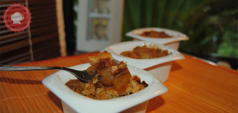 Crumble aux pommes caramel beurre salé de Cyril Lignac