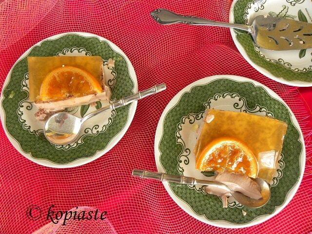 Επιδόρπιο σε στρώσεις με Κρέμα Σοκολάτας και Ζελέ Πορτοκαλιού