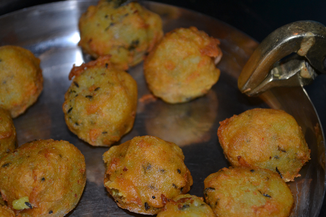 Potato wadas of leftover potato bhaji