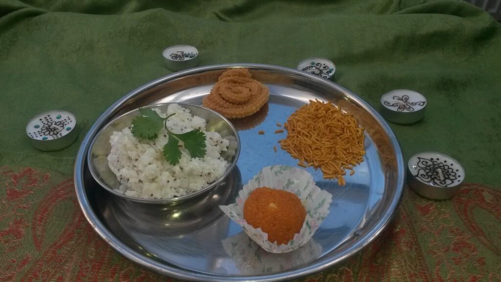Diwali Dahi Pohe breakfast