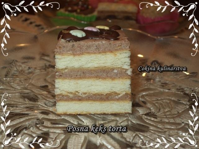 Posni keks kolač