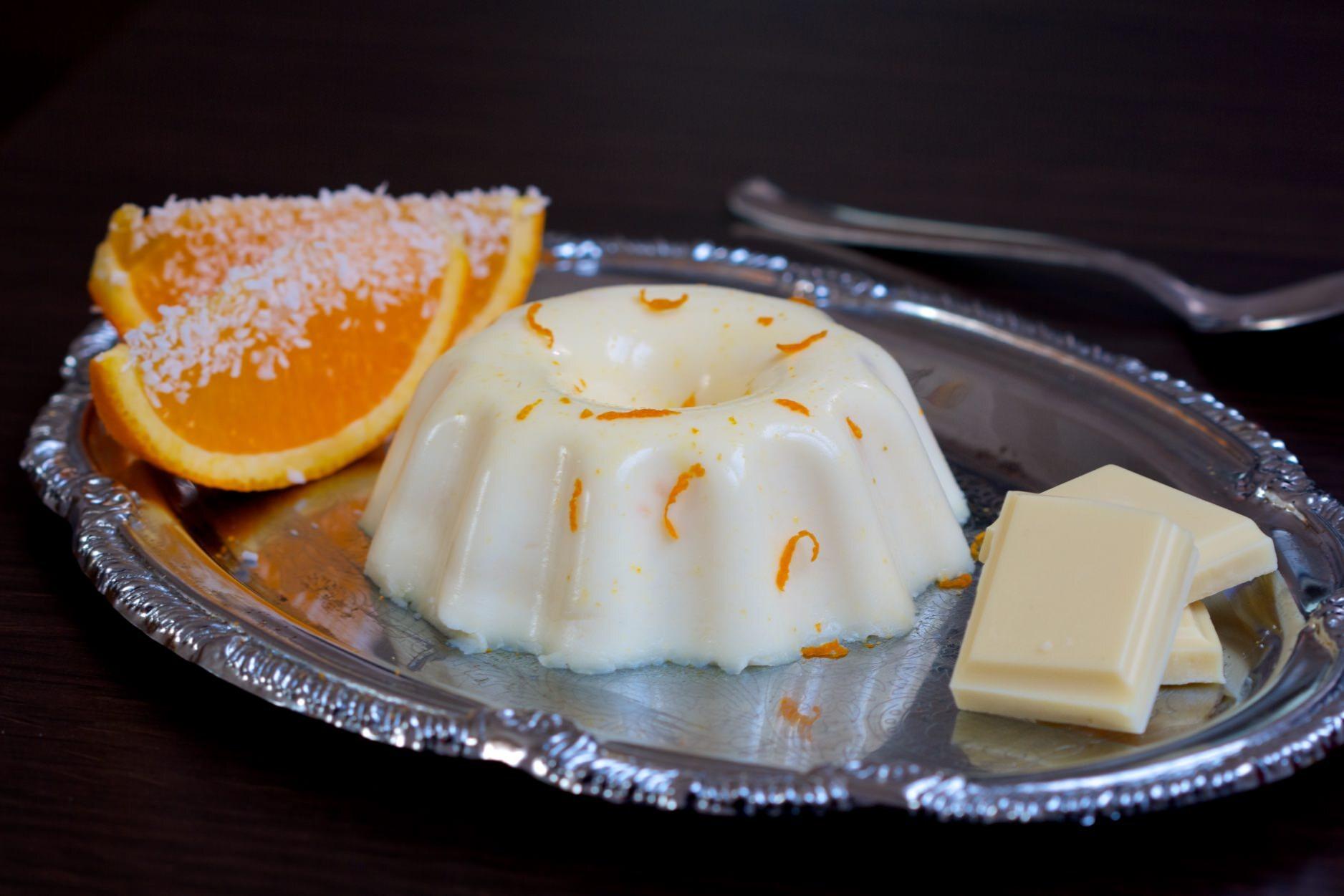 Darkova web kuharica-Panna cotta s bijelom čokoladom i kokosom