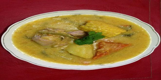 Cazuela de Pava con Chuchoca