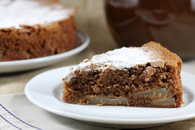Torta de Chocolate com Peras
