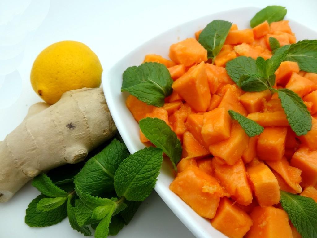 Ginger papaya salad (Ghana)
