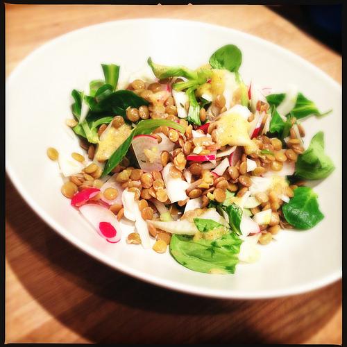 [Voedselzandloper Recept] Winterse Salade met Venkel, Linzen en Zalm