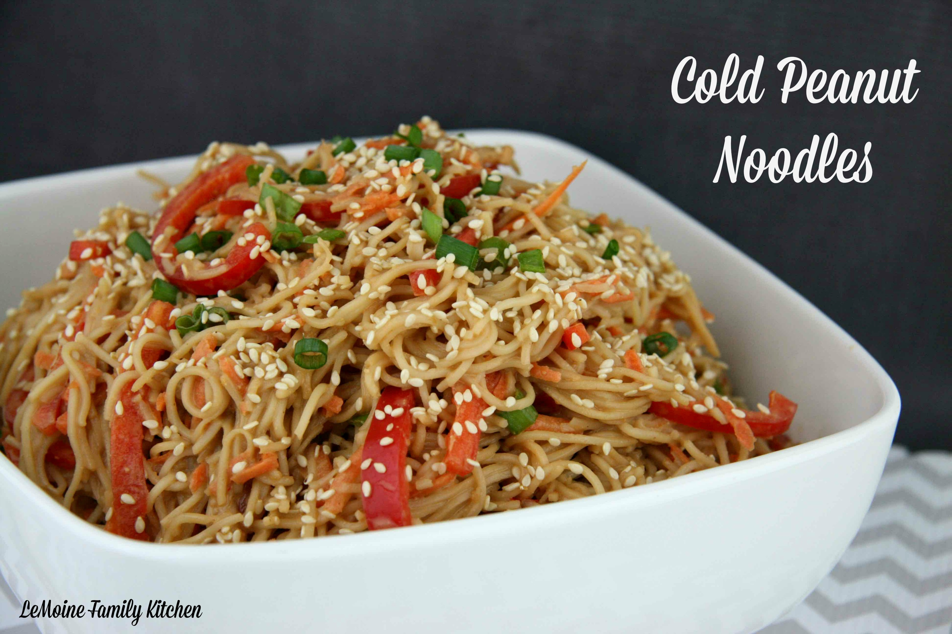 Cold Peanut Noodles