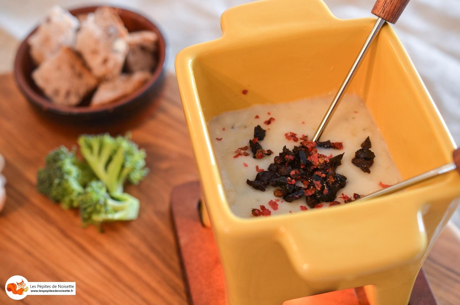 Fondue de Banon au miel de lavande