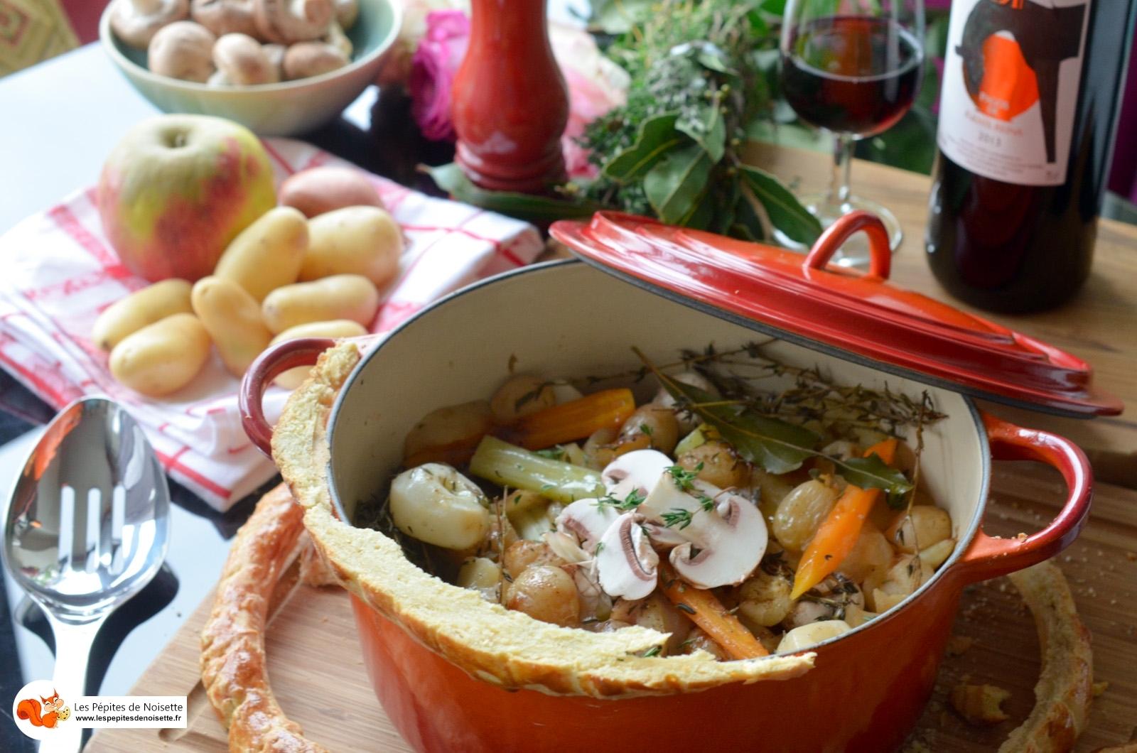 RECETTE DE CHEF: Cocotte lutée de légumes et fruits au lard paysan et à la truffe
