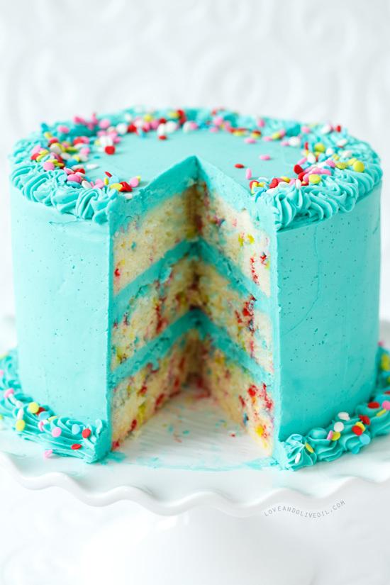 Tarta Funfetti helada | Deliciosa tentación