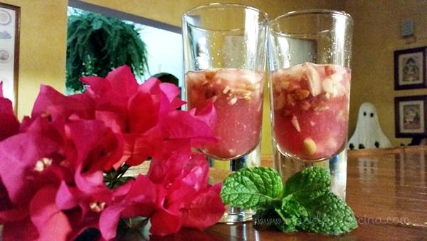 Ponche de granada con frutas