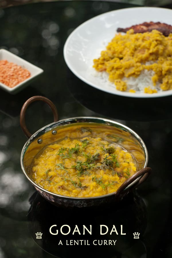 Goan Dal recipe – Lentil Curry