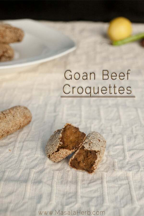 Goan Beef Croquettes #Sundaysupper