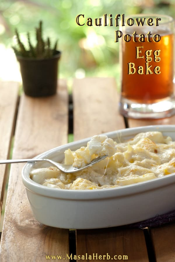 Cauliflower Potato Egg Bake