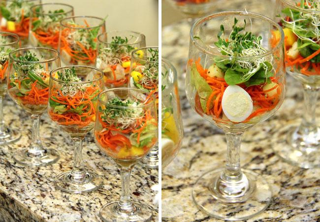 salada refrescante de acelga