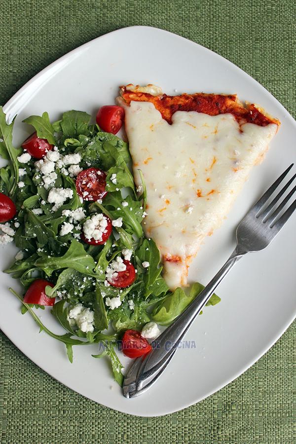 Base de coliflor para pizza