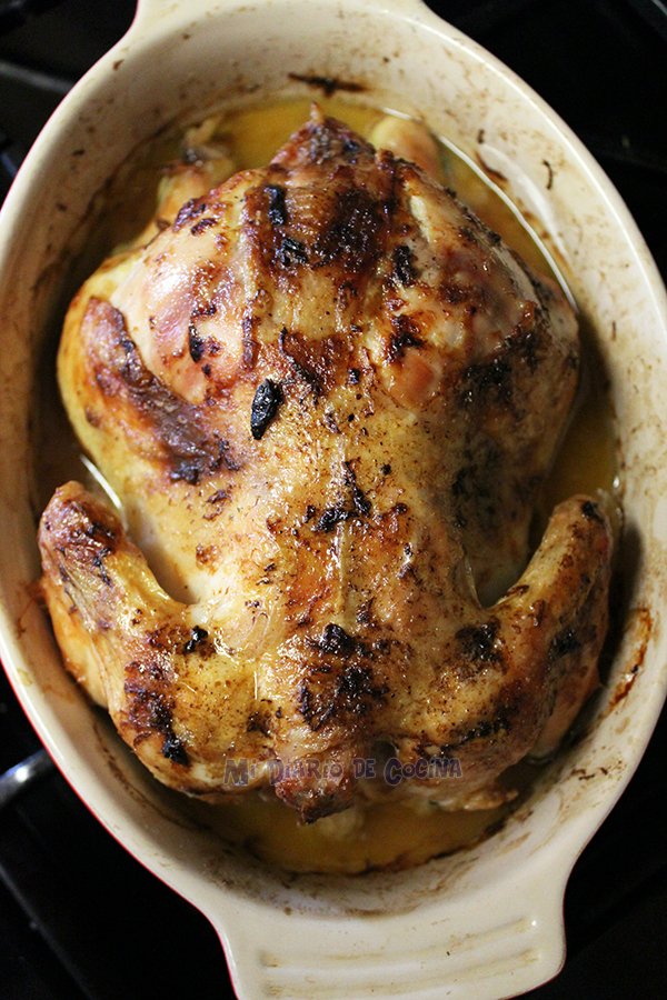 Pollo al horno con un toque de limón y papas suecas (Hasselbacken)