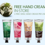 COUPON: free hand cream from The Body Shop