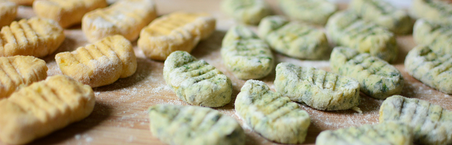 Rezept: Gnocchi mit Spinat und Süßkartoffel