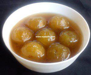 Amla Murabba Recipe (आँवला का मुरब्बा)