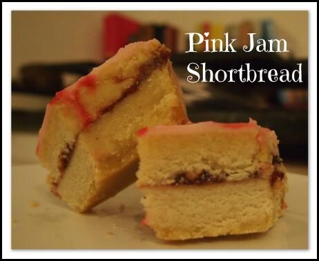 jam shortbread slice