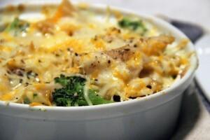 Gratin de pastas brocoli fromage