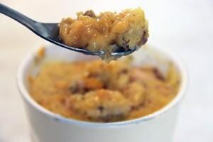 Mug cake potiron cantal noix