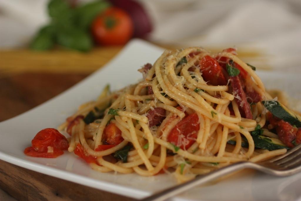 Chorizo & Tomato Spaghetti