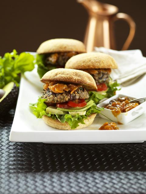 Bonnie's sensational mushroom burger patties