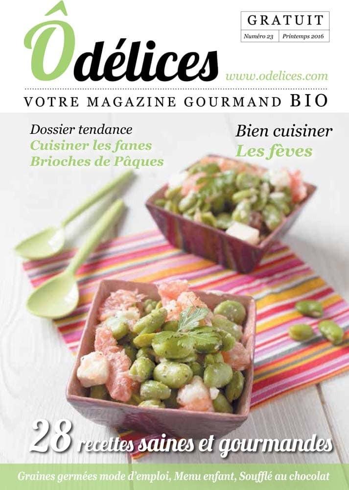 Magazine de cuisine Odelices n°23 – printemps 2016