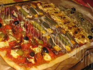 Pizza géante aux 4 saveurs