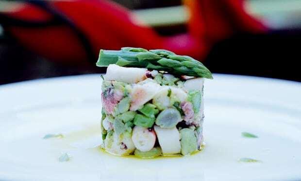 Salada de Polvo, Fava e Aspargo