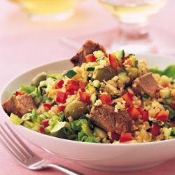 Salada de Trigo para Quibe com Cordeiro