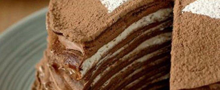 Bolo Crepe de Chocolate