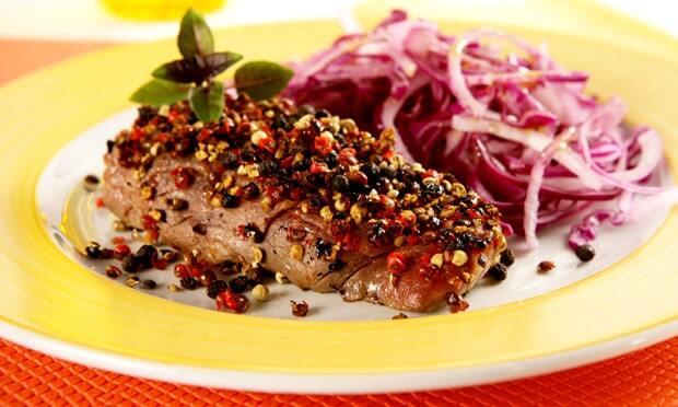 Carne Apimentada com Salada de Repolho
