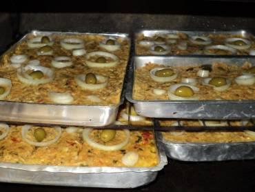 de torta de bacalhau com palmito simples
