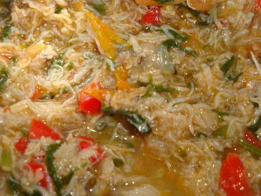 sopa cremosa de caranguejo