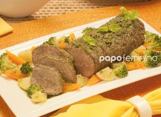 Carne Assada com Manjericão