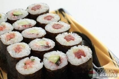 Sushi de Atum e Salmão