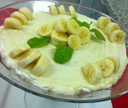 Mousse Cremosa de Banana