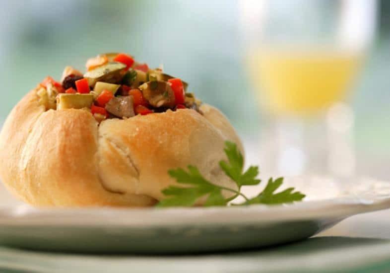 Sanduíche de Legumes com Passas