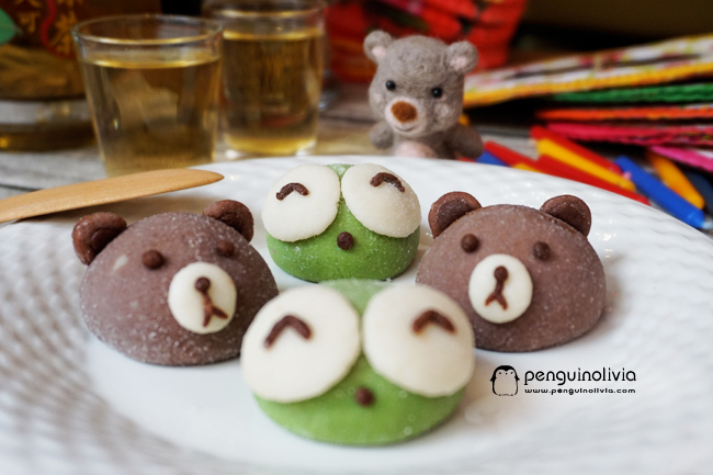 小熊小蛙冰皮月餅食譜 Bear Frog Deco Snow Skin Mooncake Recipe