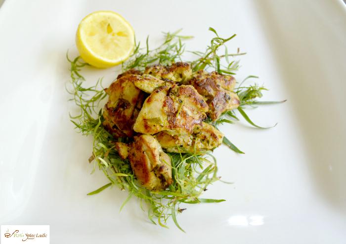 Black Pepper Lemon and Tarragon Chicken Tikka