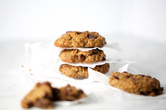 Galletas de chocolate chips sin harina